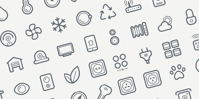 40 beautiful icons for smart house