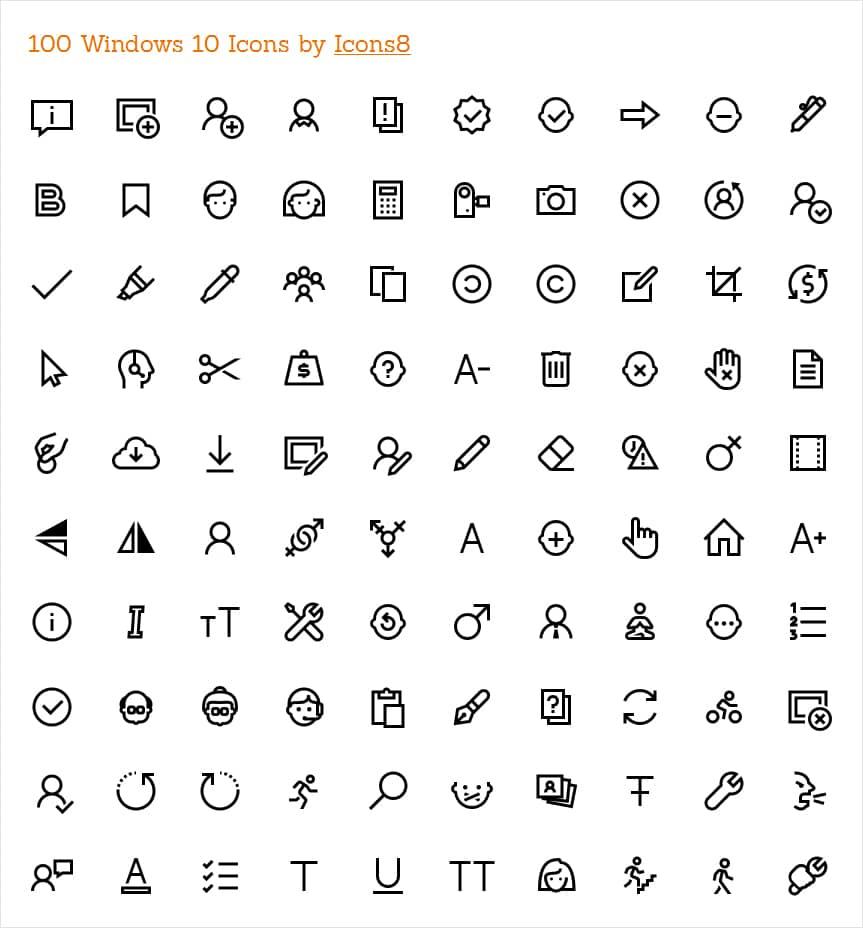 Win Icons on Windows 10 Ui Design