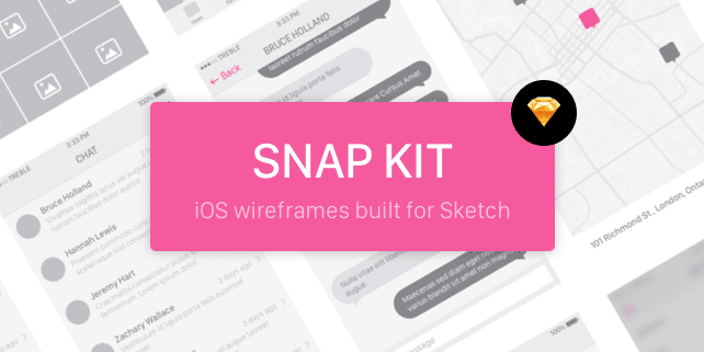 Snap UI kit – iOS 8 wireframes built for Sketch