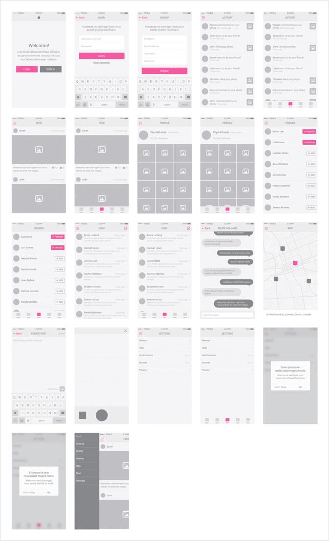 Snap UI kit - iOS 8 wireframes built for Sketch - DesignHooks