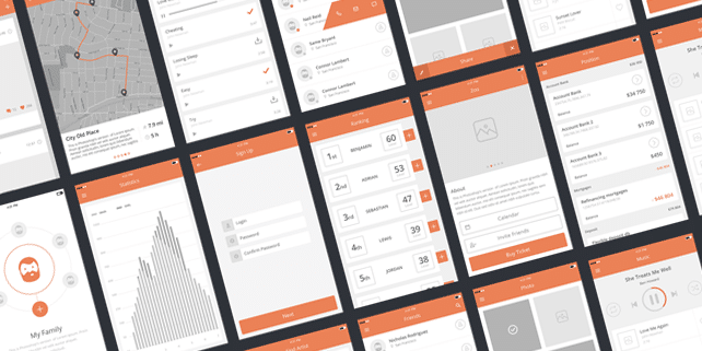 Awesome UI kit (100+ iPhone UX mockups)