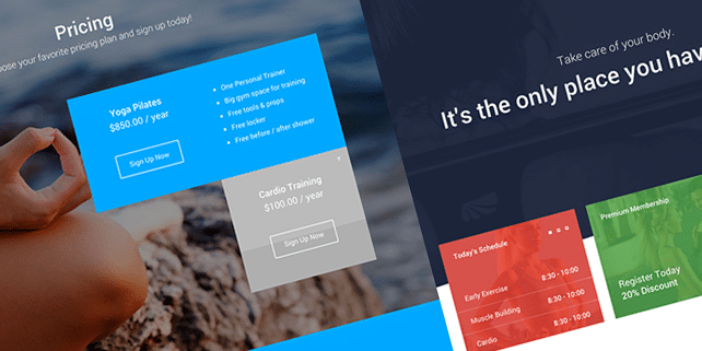 Cardio – gym, fitness HTML template