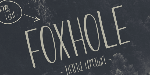 Foxhole – hand drawn typeface
