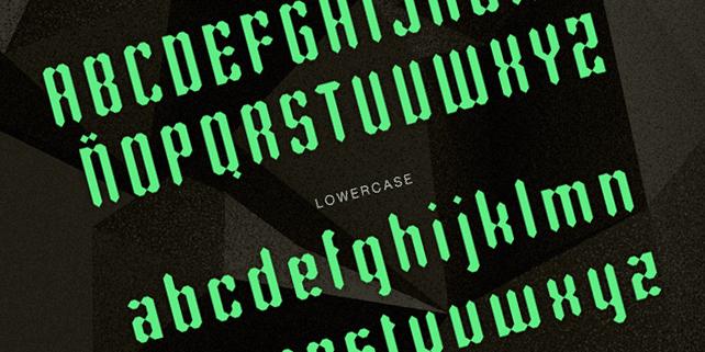 Rhombus – geometric shape typeface