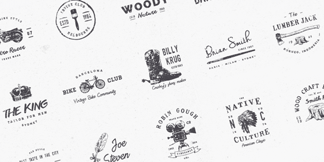 15 vintage style vector logos