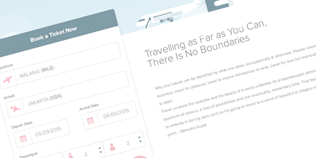 YukCus – flight booking PSD template