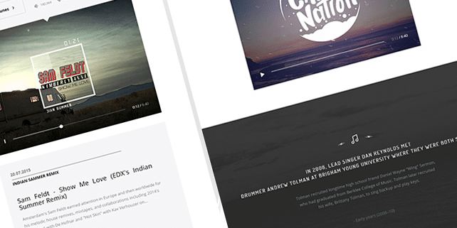 Creative PSD template for musicians