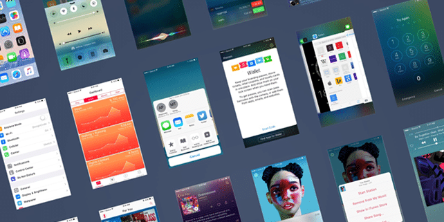 iOS 9 vector UI kit for Sketch