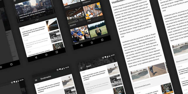 Mobile news reader UI kit