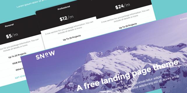 Snow – minimalist HTML5 template