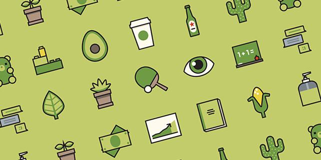 avocado-icon-set