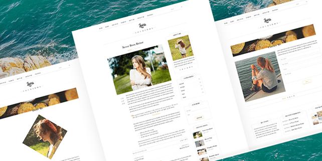 Luna – elegant blog PSD template