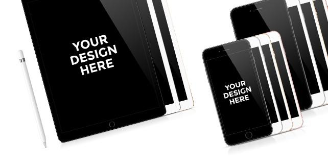 iPad, iPhone mockups