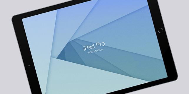 iPad Pro vector mockup