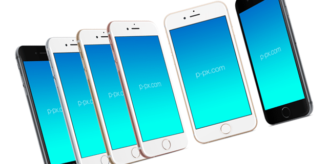 iPhone 6s vector mockup