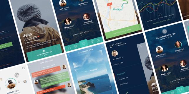 Nerdial – modern mobile app UI kit