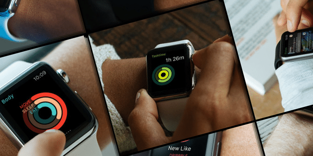 15 realistic Apple Watch mockups