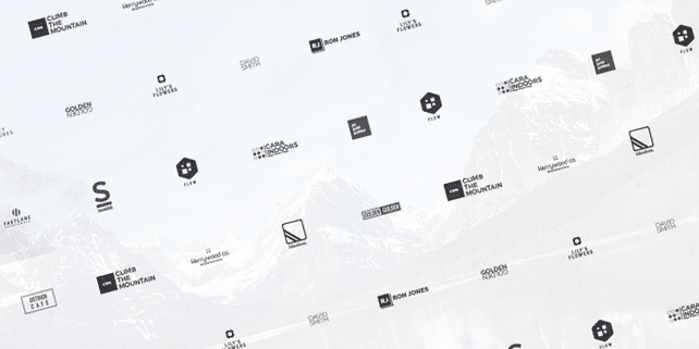 25 modern, minimalist logos