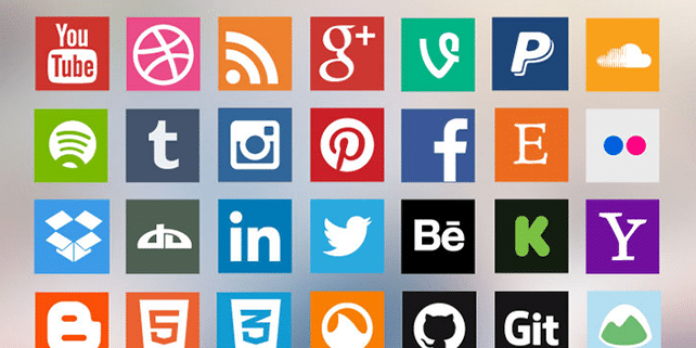 13 best social media icon sets for your blog or website
