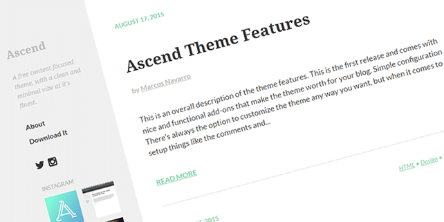 Ascend – content focused Ghost theme