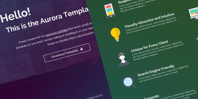 Aurora – portfolio HTML5 template