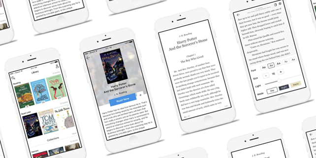 Book reading mobile app UI kit