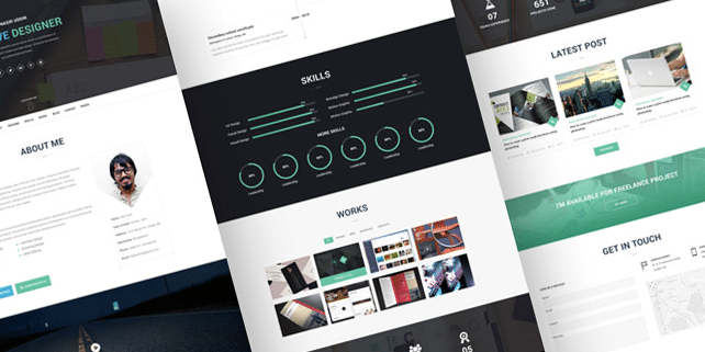 I am X – creative resume HTML template