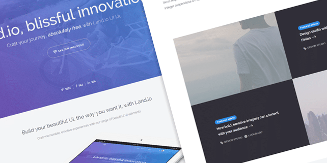 Land.io – minimalist HTML template
