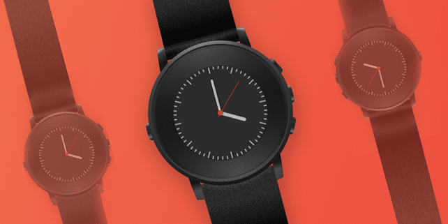 Pebble Time Round vector mockup