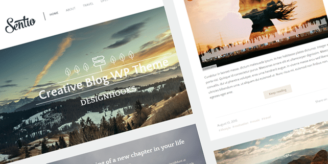 Sentio – elegant blog WordPress theme
