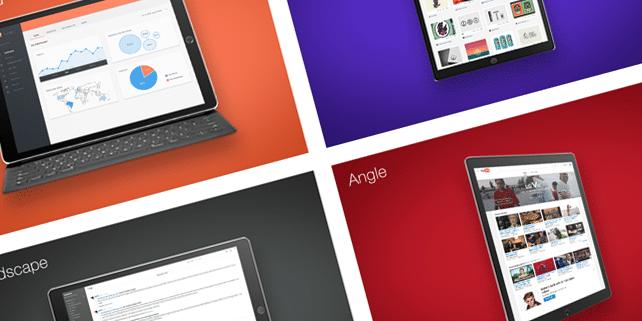 4 hi-res iPad Pro mockups