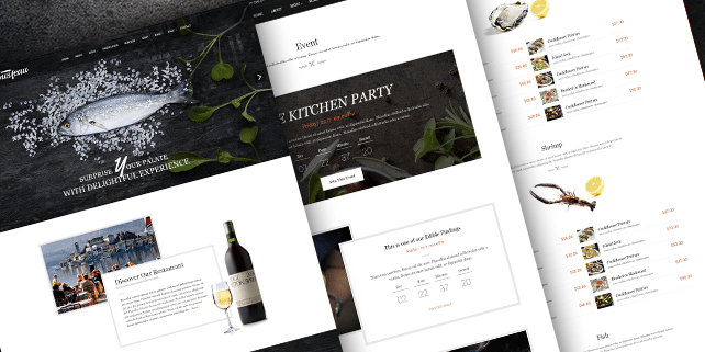 Gusteau – stylish restaurant PSD template