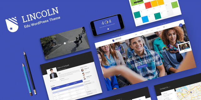 Lincoln – education PSD template
