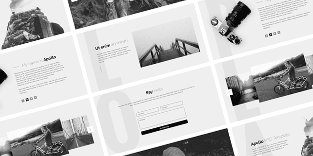 Apollo – PSD theme for photographers