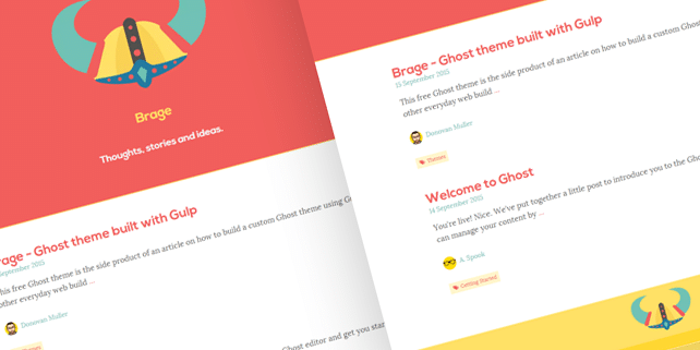 Brage – clean Ghost theme