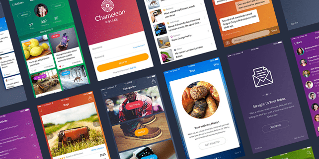 Chameleon – colorful mobile UI kit