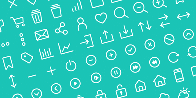 80 clean vector line icons