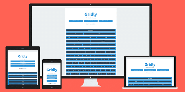 Gridly – a super light (~100 bytes) grid system for modern browsers