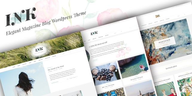 INK – elegant PSD template for bloggers