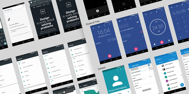 Android Lollipop mobile UI kit