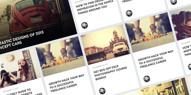 Minimalist blog UI