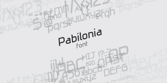 Pabilonia free creative font