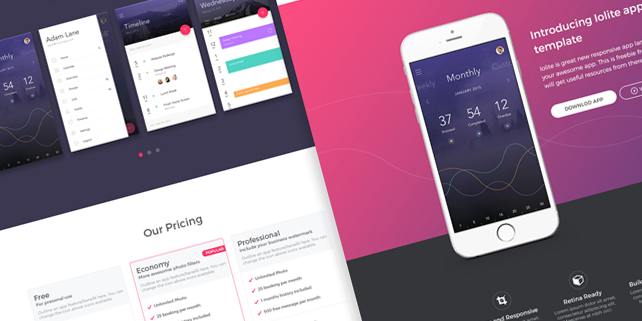 zoom  ui kit for mobile app presentations  designhooks, Templates