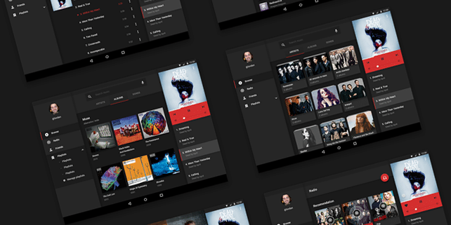 Clean music UI kit for Android