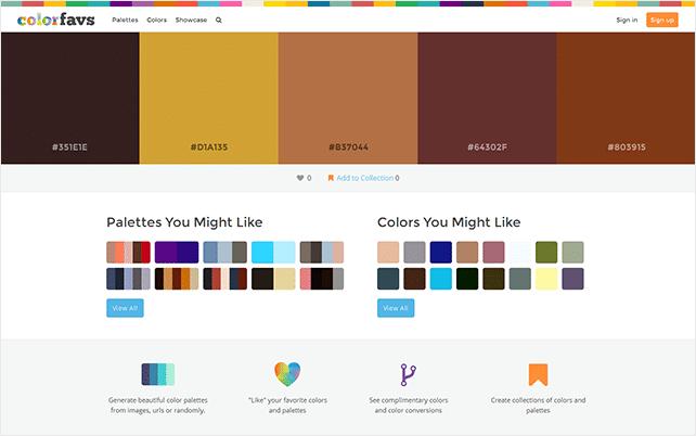 colorfavs palette