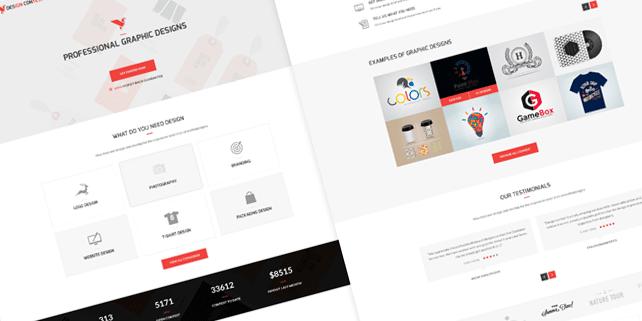 Design contest PSD template