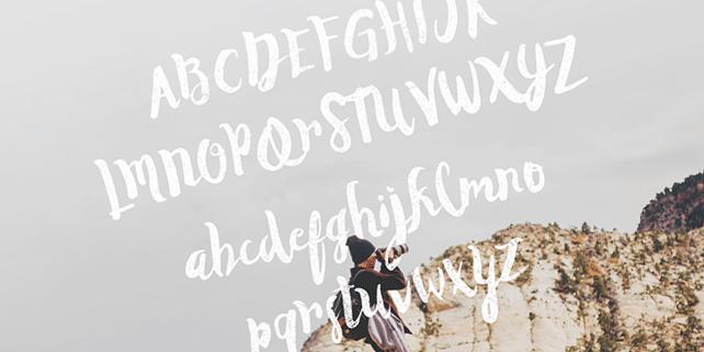 Duwhoers – creative, handmade font