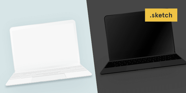 The new MacBook minimalist vector mockup