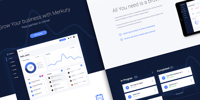 mercury-clean-dashboard-template