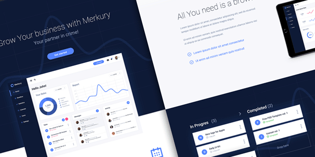 Merkury – clean dashboard PSD template